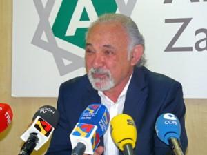 El presidente de la Junta de Compensación de Arcosur, Antonio Olmeda, durante la rueda de prensa de este martes