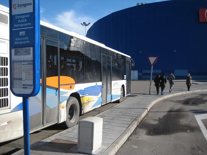 Actual bus a Plaza y Aeropuerto