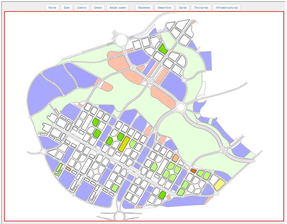 Plano calles Arcosur Zaragoza